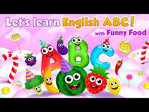 video review of Funny Food!🥦learn ABC games for toddlers&babies📚