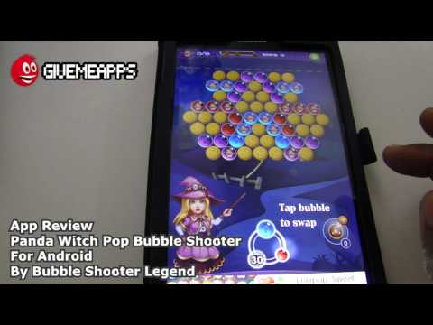 Panda Witch Pop Bubble Shooter Android App Review | GiveMeApps