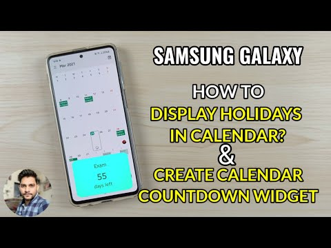 How To Display Holidays In Samsung Calendar & How To Create Countdown Widget?
