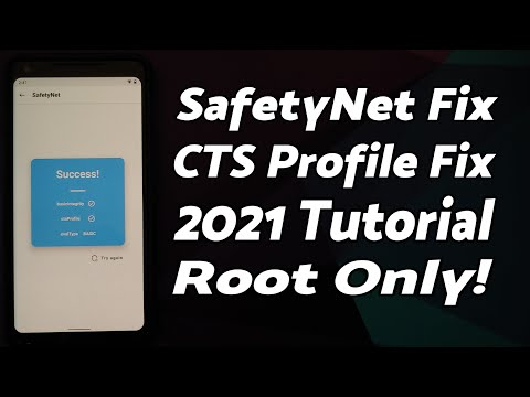 Android SafetyNet ByPass | CTS Profile False Fix | 2021 | Root Only | Any Android