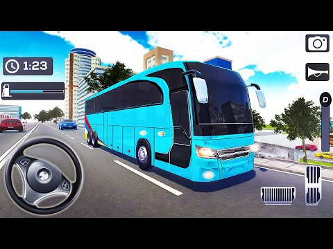 Coach Bus Simulator 2020 - Mobile Bus Transporter Driving - Android GamePlay