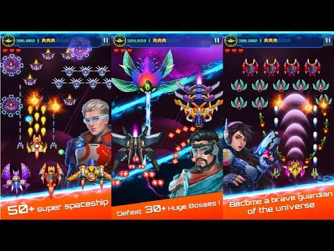 Space attack - infinity air force shooting Android Gameplay