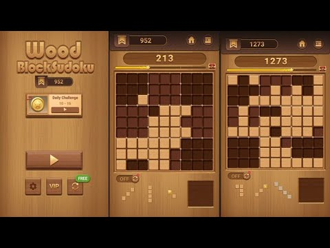 Wood Block Sudoku (by Beetles Games Studio) - puzzle game for Android - gameplay.