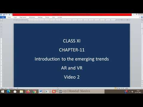 IP11 – Chapter 11 – Introduction to the Emerging Trends – Video 02 – AR and VR