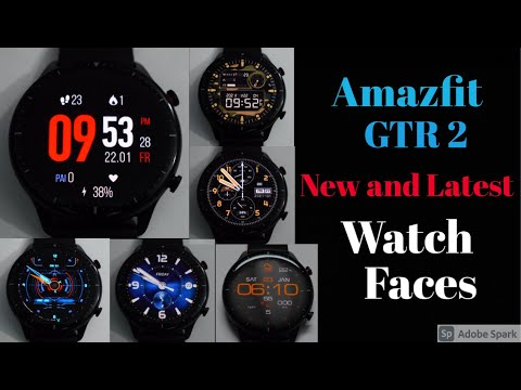 Amazfit GTR 2 : New, Latest and Custom Watch faces, those You can't find in Zepp App.
