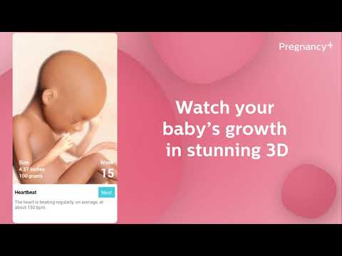 Pregnancy   | tracker app, week by week in 3D