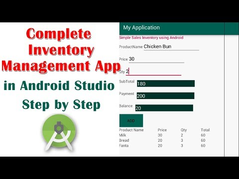Complete Inventory Management App in Android studio Step by Step