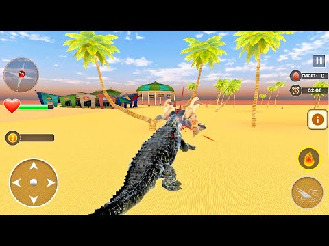Crocodiles attack other animals | Angry Crocodile Simulator Crocodile Attack | Android Game Play