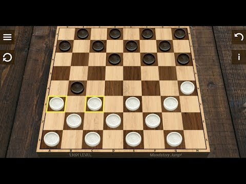 Checkers (by English Checkers) - classic board game for Android - gameplay.