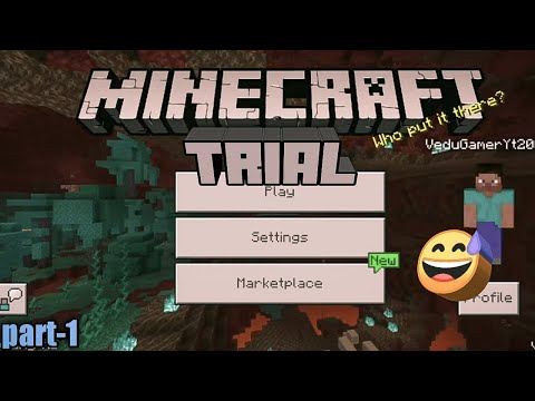 MINECRAFT TRIAL Android Gameplay [Part-1} HINDI
