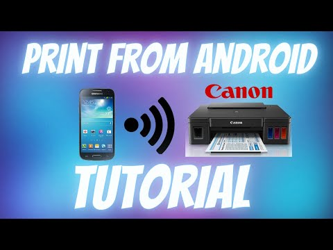 How to Print from Android Phone to Canon Printer | Android Print Tutorial