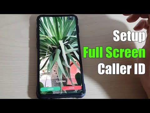 Galaxy S10 / S10 : How to Setup Full Screen Caller ID