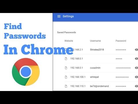 How to Find Passwords In Google Chrome For Mobile Hindi/Urdu Tutorial 2020
