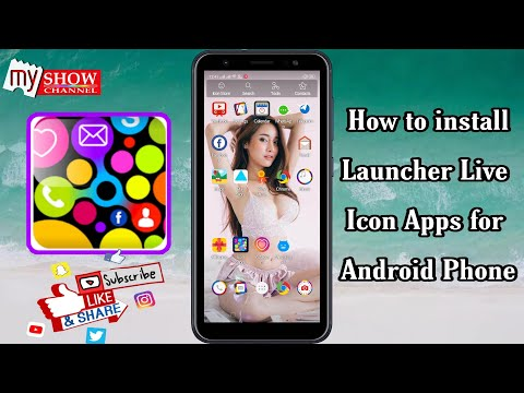 How to install Launcher Live icon App for Android