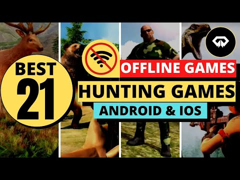 👍Best 21 OFFLINE HUNTING Games Android iOS mobile Phone⛺🔫