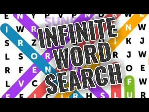 INFINITE WORD SEARCH PUZZLES | Free Mobile Game | Android / Ios Gameplay HD Youtube YT Video
