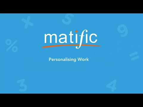 Personalise the Matific tasks your students complete