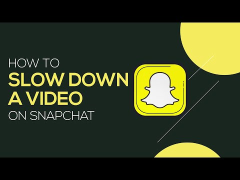 How To Make Slow Motion Video On Snapchat | Easily Reduce The Speed Of Your Video!