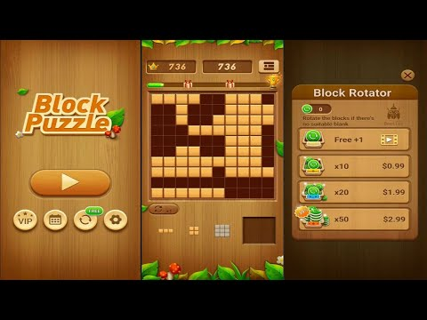 Wood Block Puzzle (by Beetles Games Studio) - puzzle game for Android and iOS - gameplay.