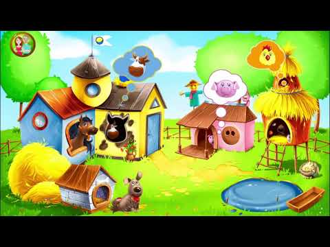 video review of Animal Farm for Kids. Toddler games.