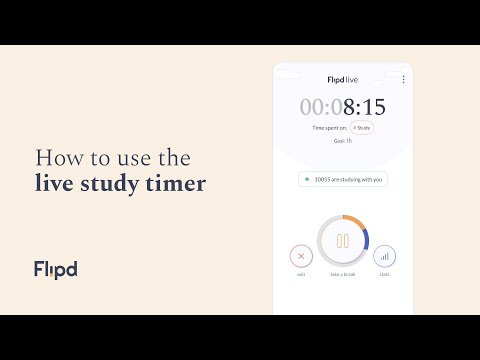 Flipd app tutorial: How to use the Live Study timer