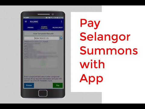 How to pay Selangor Saman with App