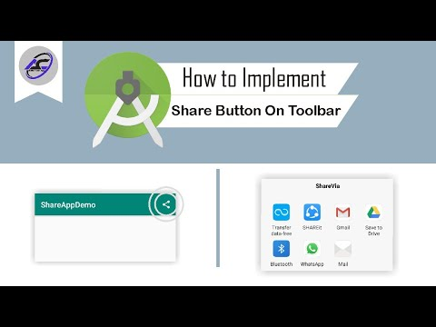 How to Implement Share Button On Toolbar in Android Studio | ShareAppAndroid | Android Coding
