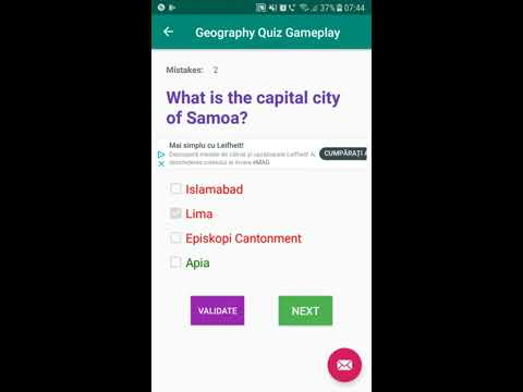 Random Country Capitals Quiz - FREE Android Application