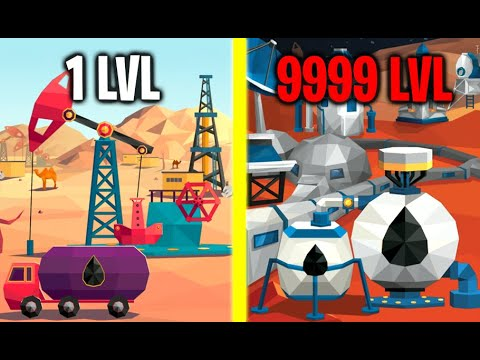Idle Oil Tycoon! MAX LEVEL MARS OIL STATION EVOLUTION! Max Level Pump And Barrel! (9999   Level Oil)