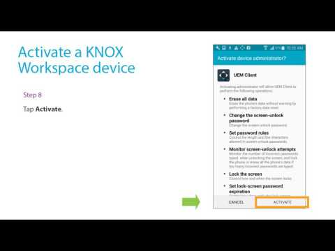 Activate a Samsung KNOX workspace device