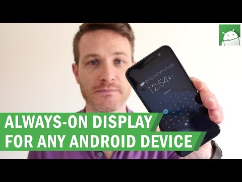 Always-on display for any Android device