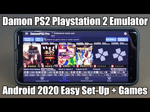 Damon PS2 - Sony PS2 Emulator - Android 2020 - Easy Set Up   Games!