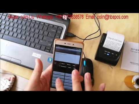 How to use bluetooth printer with android & IOS phone.