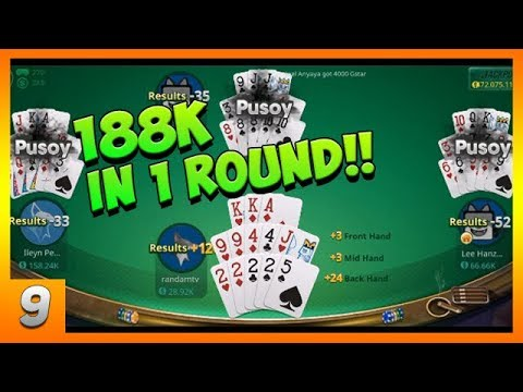 Pusoy - Chinese Poker Online - Zingplay   I Won 188K in 1 Round - Gameplay Ep. 09 (Android, iOS)