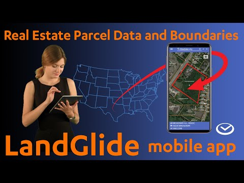 Mobile Property Lines Overlay, Data and Pinning all in LandGlide App for Android and iOS
