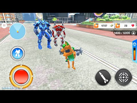 Wild Fox Transform Bike Robot Shooting: Robot Game - Android Gameplay
