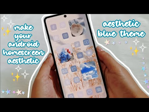 make your android homescreen aesthetic 2021 🌊 aesthetic blue theme 💙✨