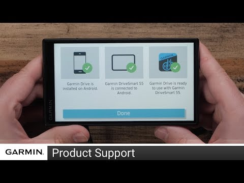 Support: Garmin Drive™ App Setup on an Android™ Device with a Garmin DriveSmart™ 55/65
