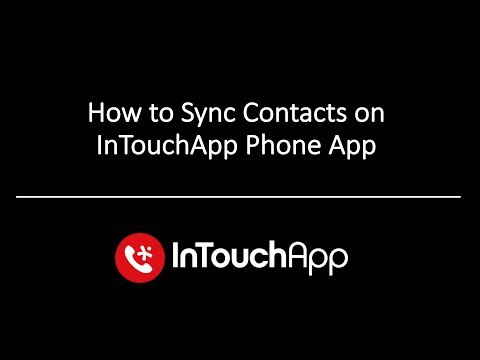 How to Sync InTouchApp (Mobile App) and keep contacts up to date