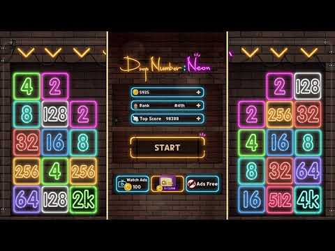 video review of Drop Number : Neon 2048