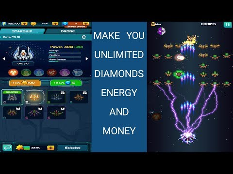 Make You Unlimited Diamonds, Money, Anergy | In Galaxiga Classic 80s Arcade Space Shooter !