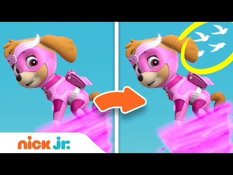 Spot the Difference Game #2 w/ the Paw Patrol Mighty Pups! | Nick Jr.