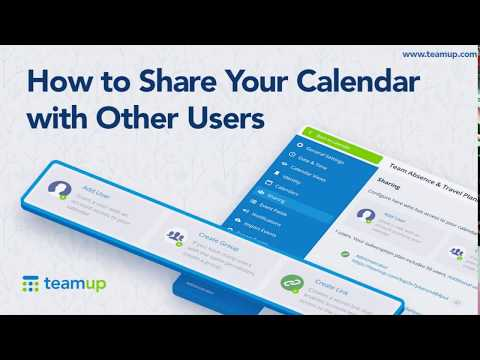How To Share Your Calendar With Other Users