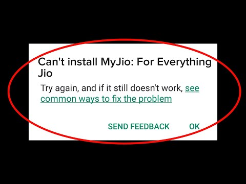 How To Fix Can't Install MyJio App On Google Play Store Android & Ios    Fix Cannot Install App