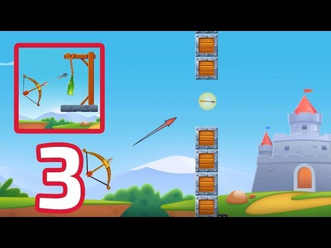 Archery Bottle Shoot - Gameplay Part 3 (Android,IOS)