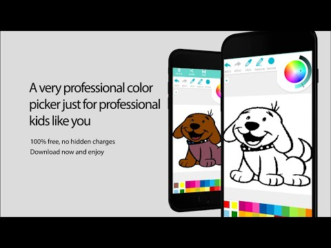 Coloring app for kids (Flags, Animals, Cartoons)