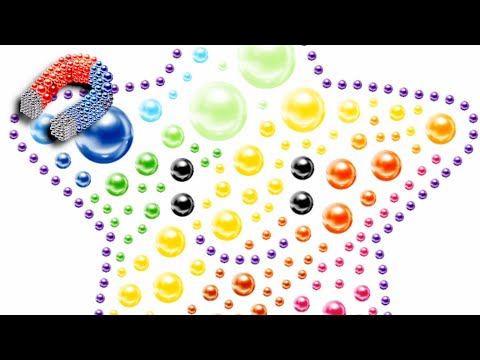 Magnetic Balls Color By Number - Magnet Bubbles - Gameplay (Android,iOS)
