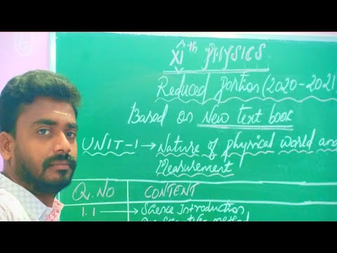 11th PHYSICS REDUCED SYLLABUS [2020-2021] FOR ALL UNITS