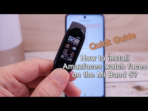 Quick Guide: How to install Amazfaces watch faces on the Mi Band 5?