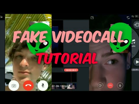 Tutorial EDIT FAKE VIDEOCALL USING ANDROID PHONE
